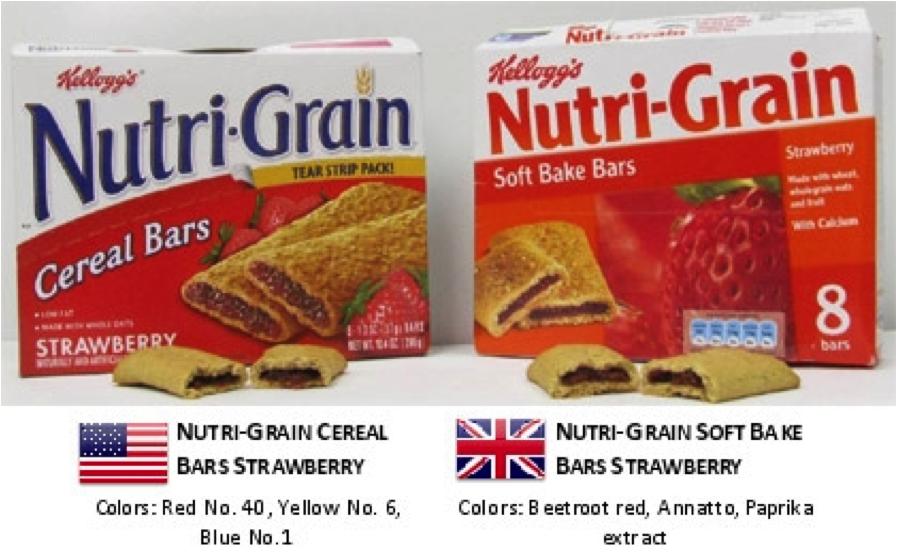 Kelloggs Nutri-Grain boxes